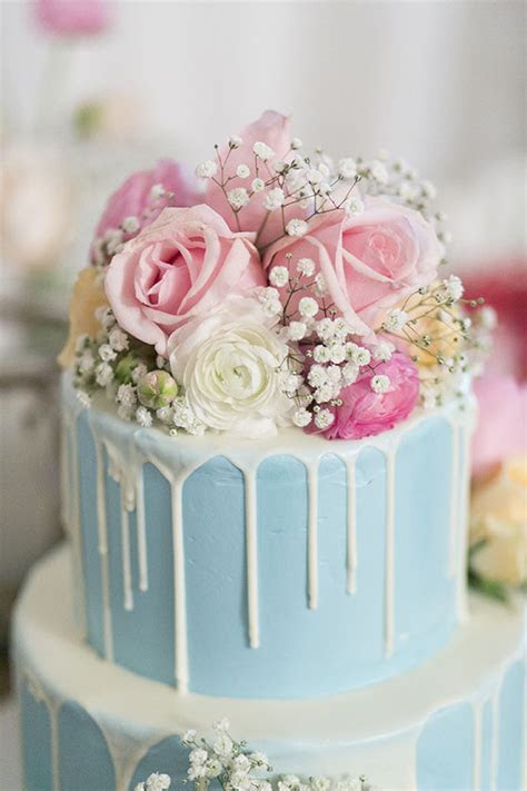 Romantic Cake Flowers   The White Orchid Floral Design