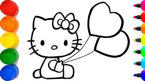 menggambar  kitty  berkilauan  anak