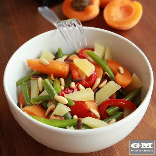 Frutta e verdure estive al pecorino