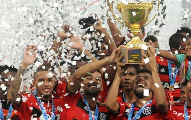 Flamengo campeão carioca taça trofeu, Flamengo x Vasco (Foto: André Durão)