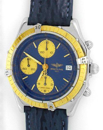 Foto 1, Hr-Breitling-Chronomat Goldlünette Shop! Neuz Portofrei, U1828