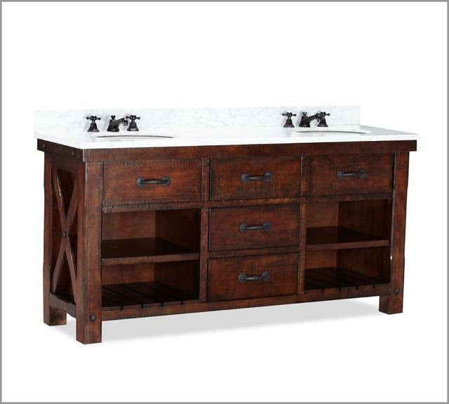 Benchwright Double Sink Console - contemporary - bathroom vanities ...