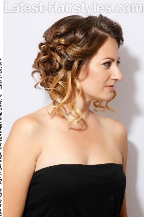 Ombre Color de pelo rubio con extremos laterales