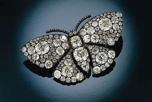 027- Broche en forma de mariposa con diamantes-Lalique 1900-1901