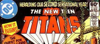 New Teen Titans #13 logo