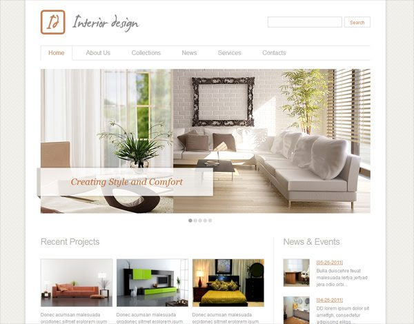 and Simple Interior Design Websites ...