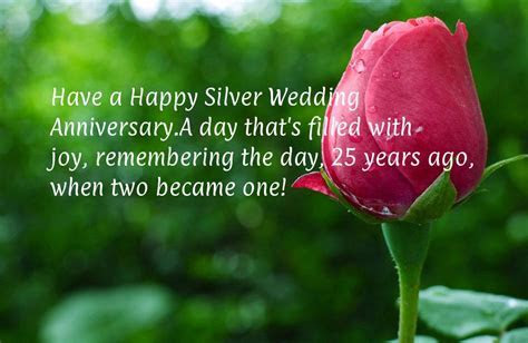 Happy 25th Wedding Anniversary Wishes