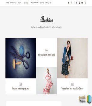 Beehive Blogger Templates