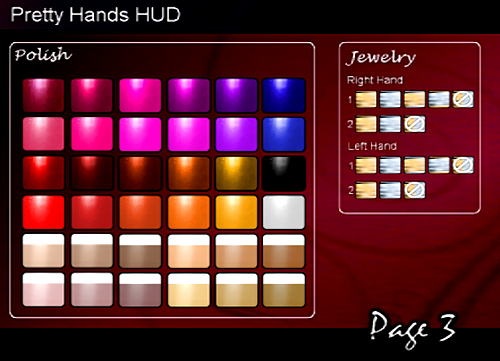 ::Page 3:: Pretty Hands HUD Control