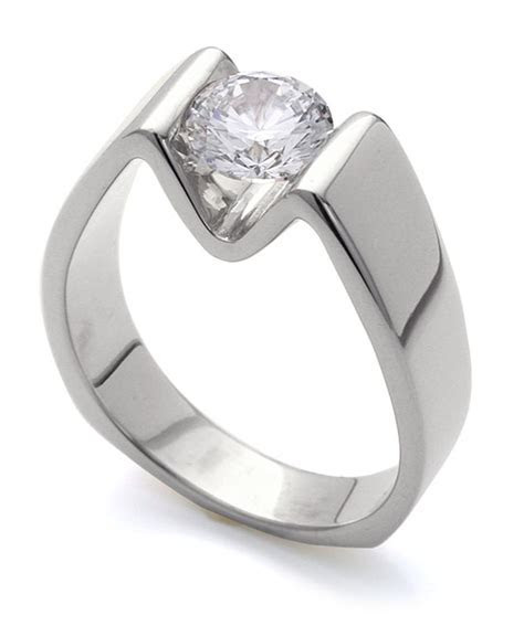 Modern Engagement Ring   Mark Schneider Design