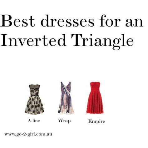 """Best dresses for an Inverted Triangle"" by go 2 girl on"