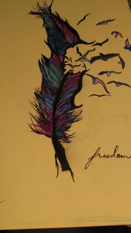 feather drawing  tumblr