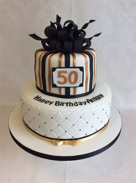 Black And Gold Birthday Cake Decorations   Cake Recipe