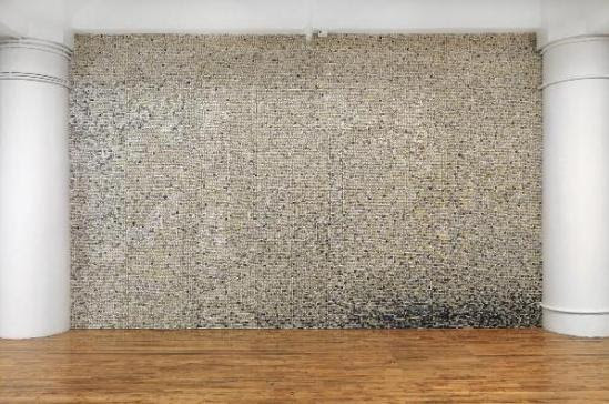 Giant Walls Made from Thousands of Old Keyboard Keys ...