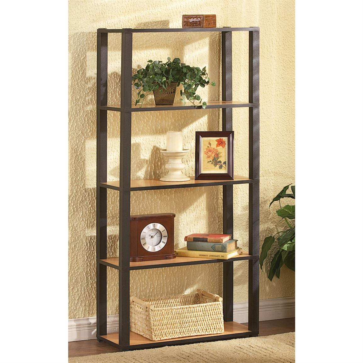 5 - tier Grosfillex® Shelving Unit - 160306, Living Room ...