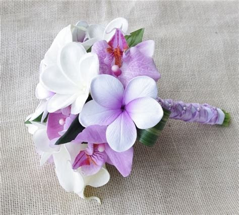 Sweet Tropical Bouquet made with Off White Natural Touch