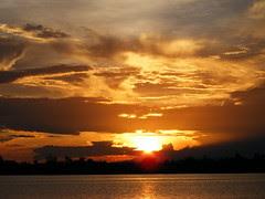 Sunset, Belize Cayes - DSCF2355