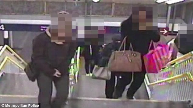 Mary Konye is accused of being the woman in the niqab creeping up of Naomi Oni at Stratford station