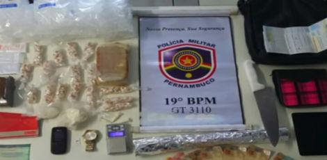 500 gramas de crack e maconha foram apreendidas / Foto: Reprodução/TV Jornal