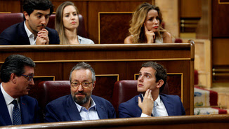 Albert Rivera al seu escó al Congrés, aquest dimarts, durant la constitució de les Corts (Reuters)