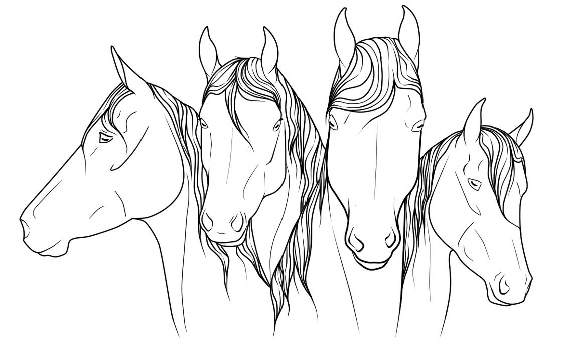 Show Horse Coloring Pages at GetColorings.com   Free ...