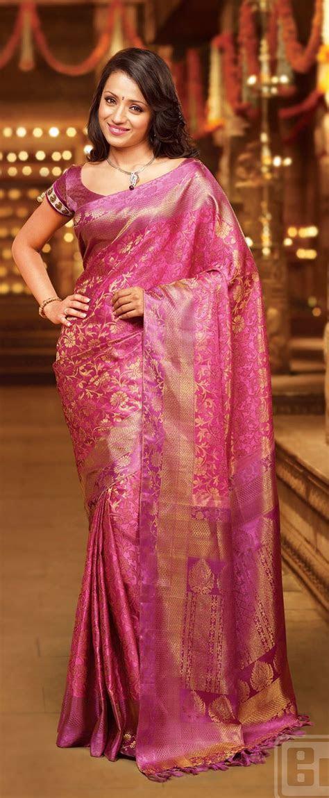 Trisha looks amazing in this samutrika pattu by pothys. I