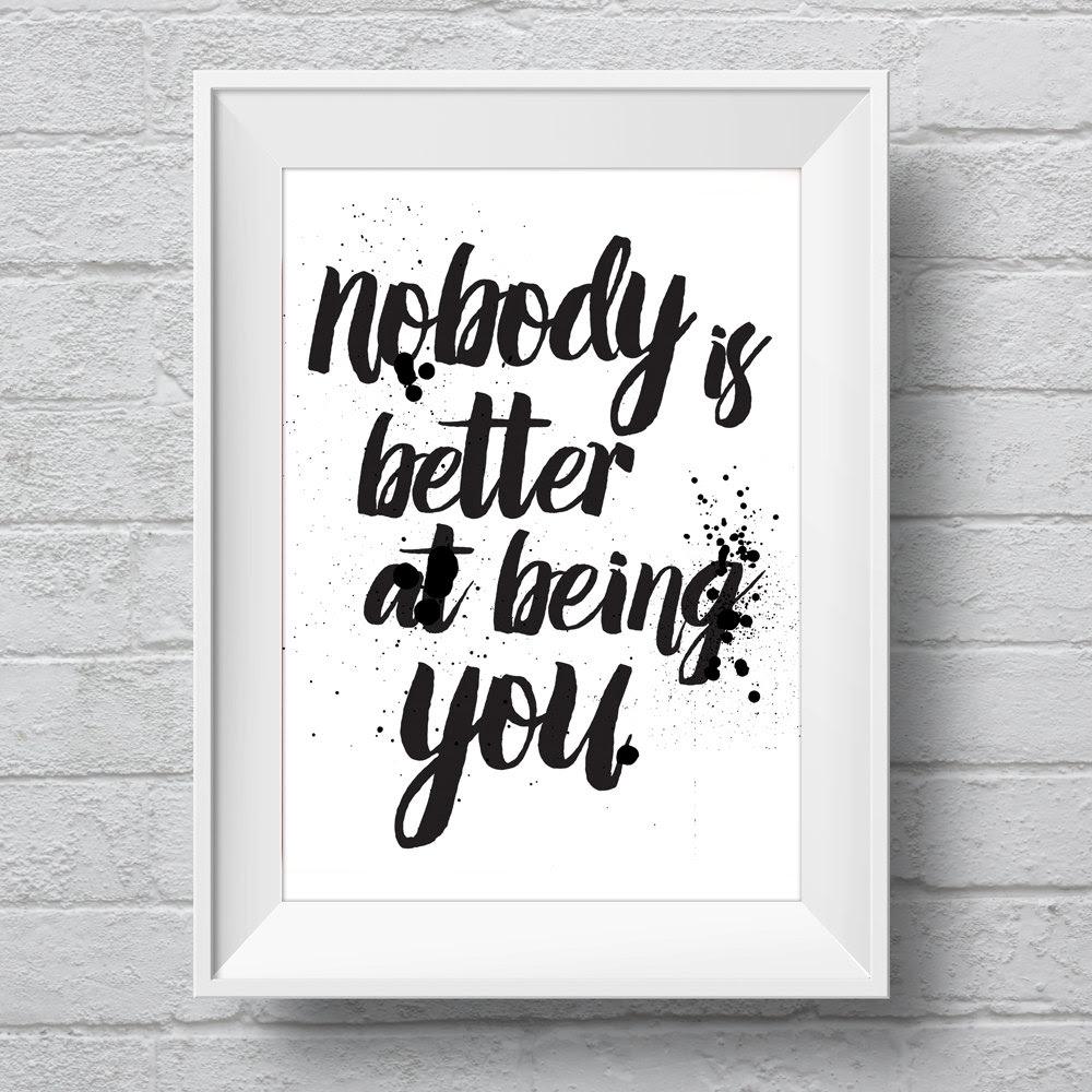 Minimalist Art Print Poster Motivational Quote Love Life Romantic