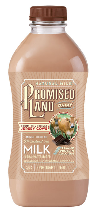 Reduced Fat 2% Midnight Chocolate Milk | Promised Land Dairy