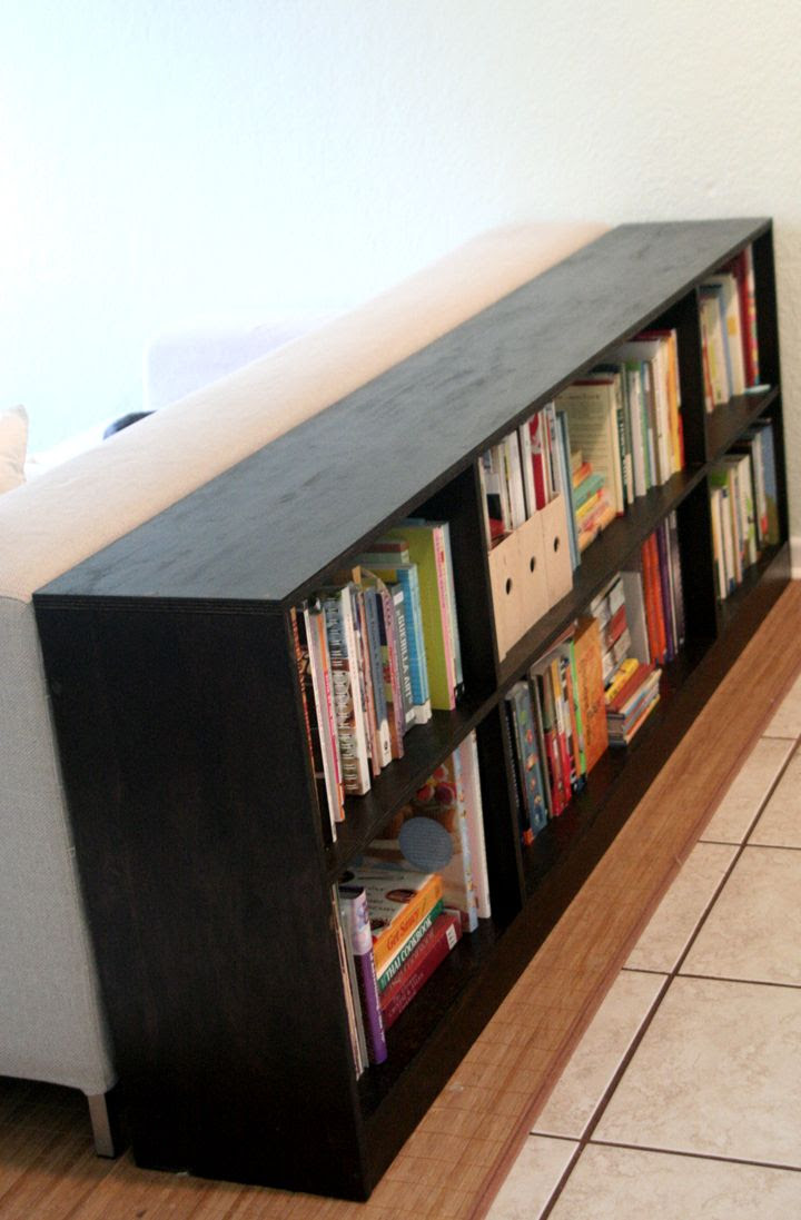 diy bookshelf for behind sofa? | Our Alcantara Abode | Pinterest