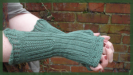 Victorian Steampunk London UK British knitting fingerless gloves pattern