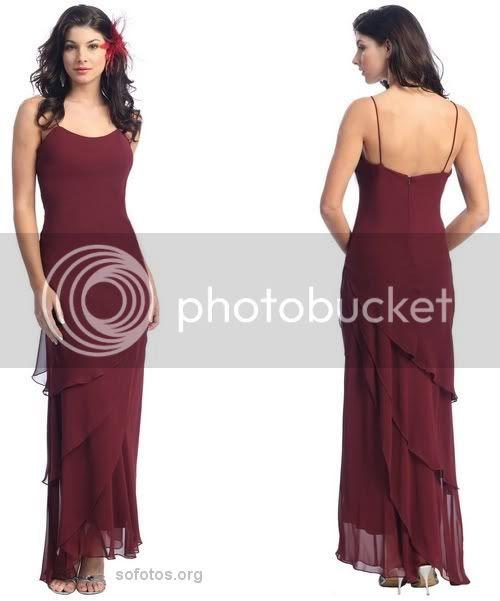 Vestido de festa vinho com sobresaias em vies