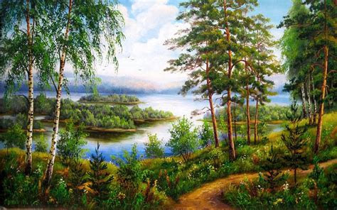 trees  plants river view wallpapers trees  plants