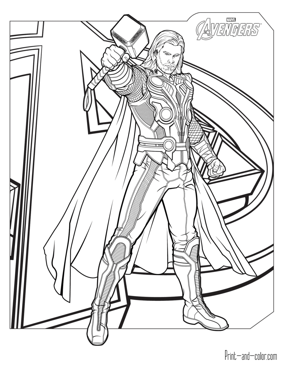 920 Colouring Pages Of Avengers , Free HD Download