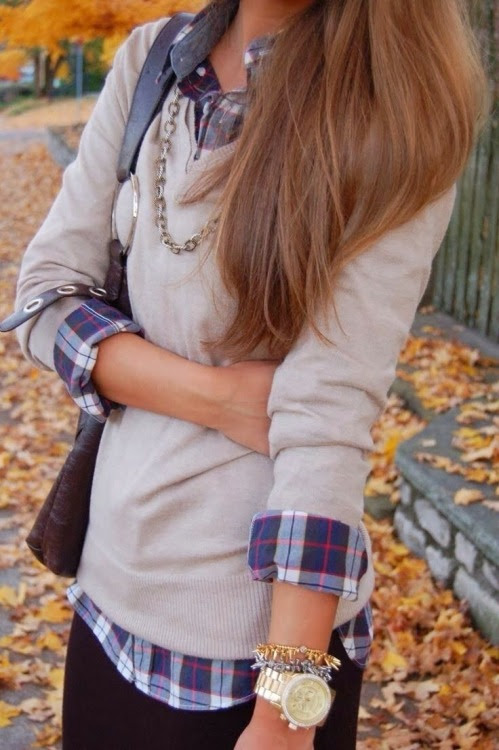 Favorite Fall Outfit....Plaid Shirt and Sweater | Friday Favorites at www.andersonandgrant.com