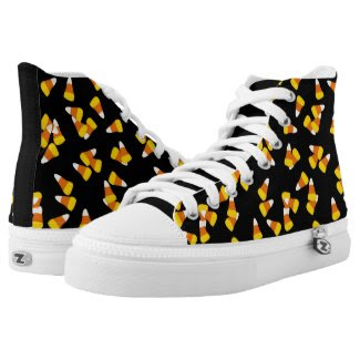 Halloween candy corn high top shoes