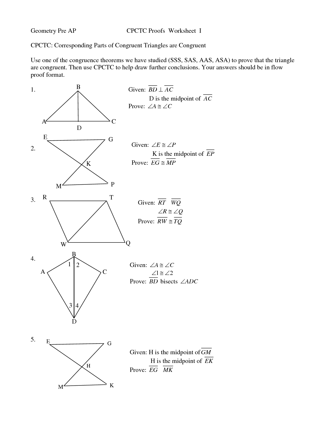 Proving Triangles Congruent Worksheet Answer Key  previous geometry dolfanescobar s