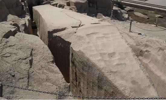 The strange 'scoops' on the Unfinished Obelisk