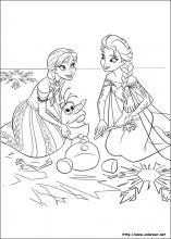 Dibujos De Frozen El Reino Del Hielo Para Colorear En Colorearnet