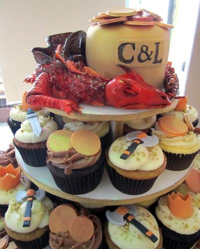 The Hobbit Wedding Cupcake Tower
