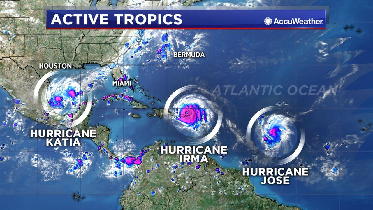 Image result for images of katia, irma and jose hurricane