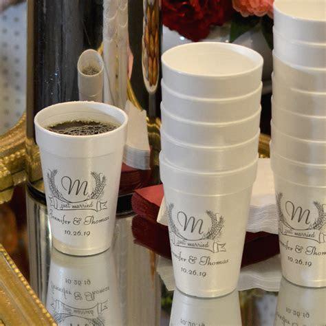 Fall Wedding Cups   16 Oz. Styrofoam Personalized