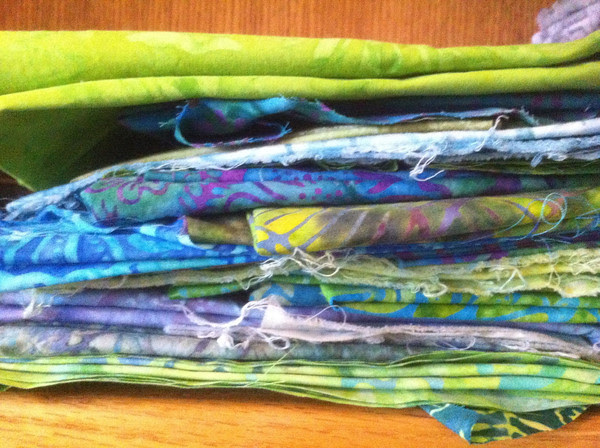 Green Batik Stash