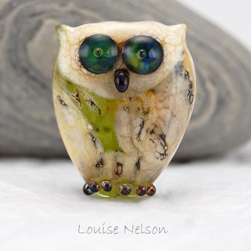 lampwork owl bead 2010