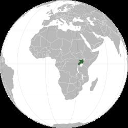 Vị trí của Uganda