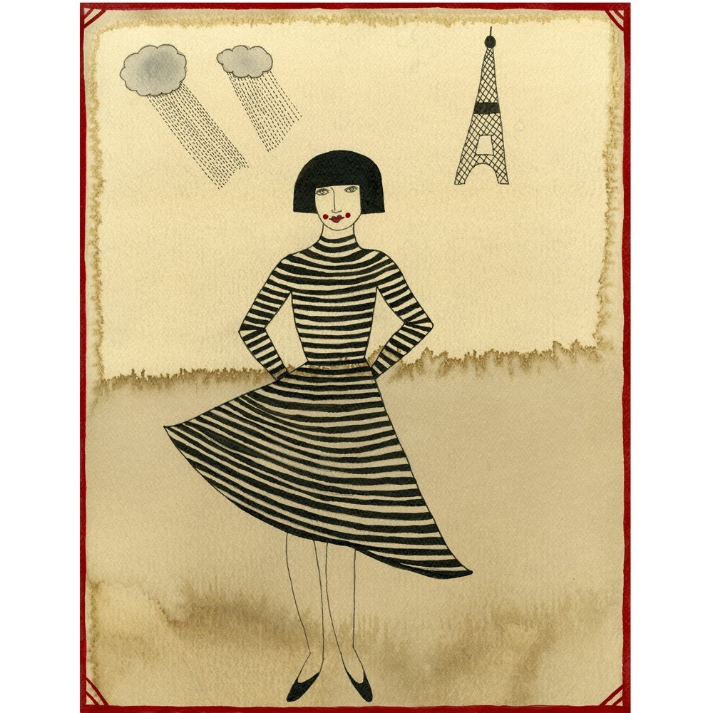 Girl From Paris-Archival Print   SALE... Buy two, get one free