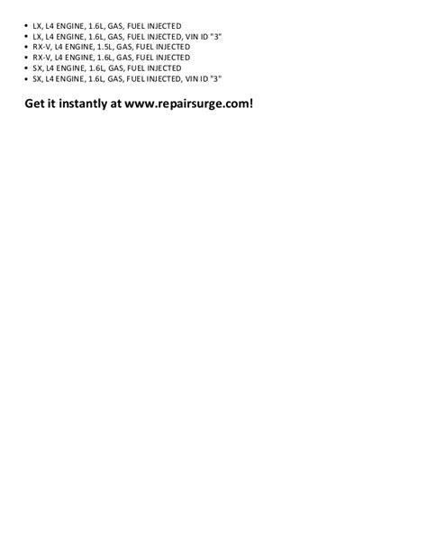 Kia rio repair manual 2001 2011