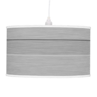 Faux Brushed Metal with Groove Pendant Lamps