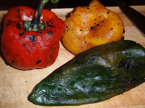 peppers after skin removed
