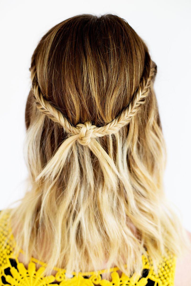 Bohemian festival knot braid