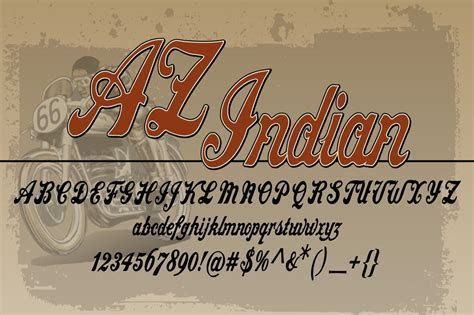 AZ Indian ~ Script Fonts on Creative Market
